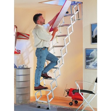 Dolle Allufix Concertina Wide Tread Loft Ladder