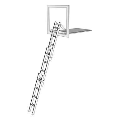 Mini Aluminium Sliding Vertical Carriage Ladder