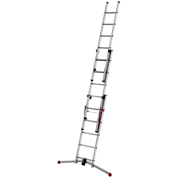 Hailo Combination Ladders with Adjustable Pedal