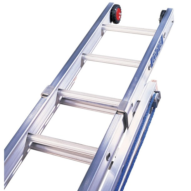 Double Section Rope Operated Extension Ladders