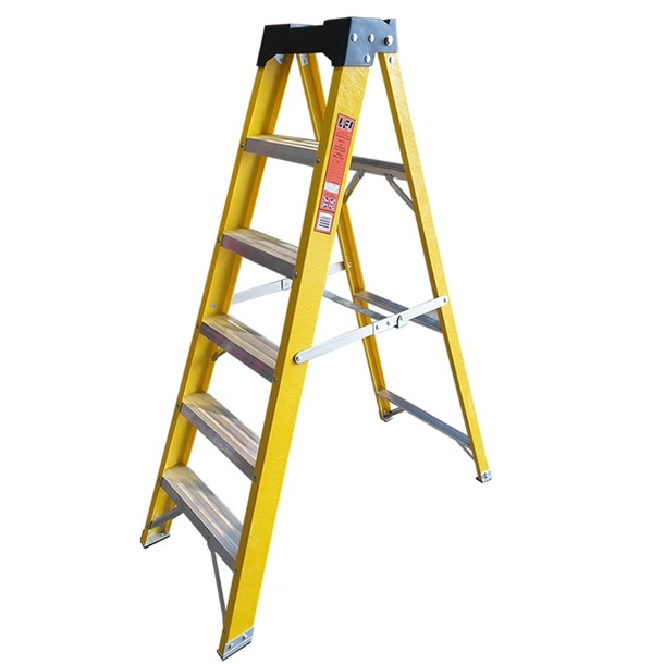 Super-Trade Glass Fibre Swingback Step Ladders