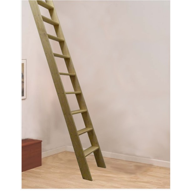 Hardwood Straight Flight Ladder (400mm)