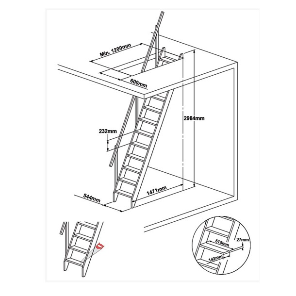 Dolle Arundel Wooden Staircase Kit