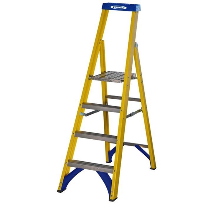 Werner 717 Fibreglass Platform Step Ladders