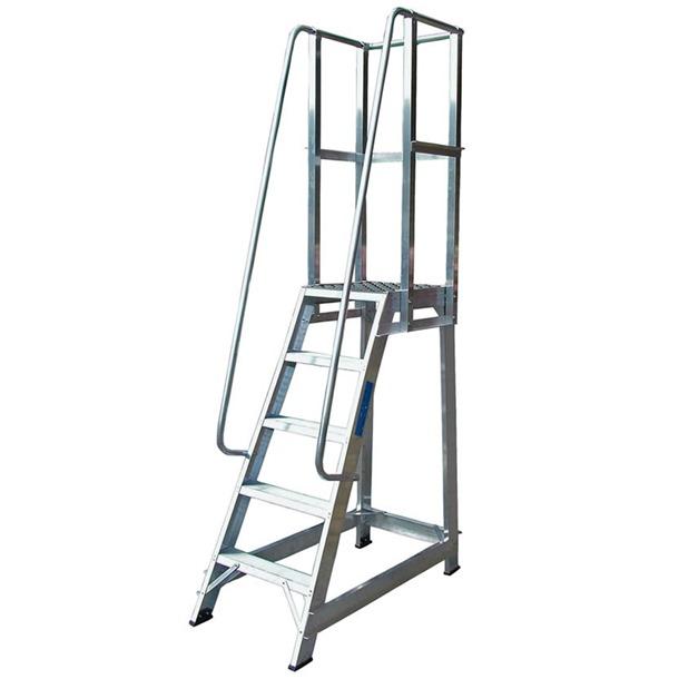 Heavy Duty Fixed Steps With Handrail