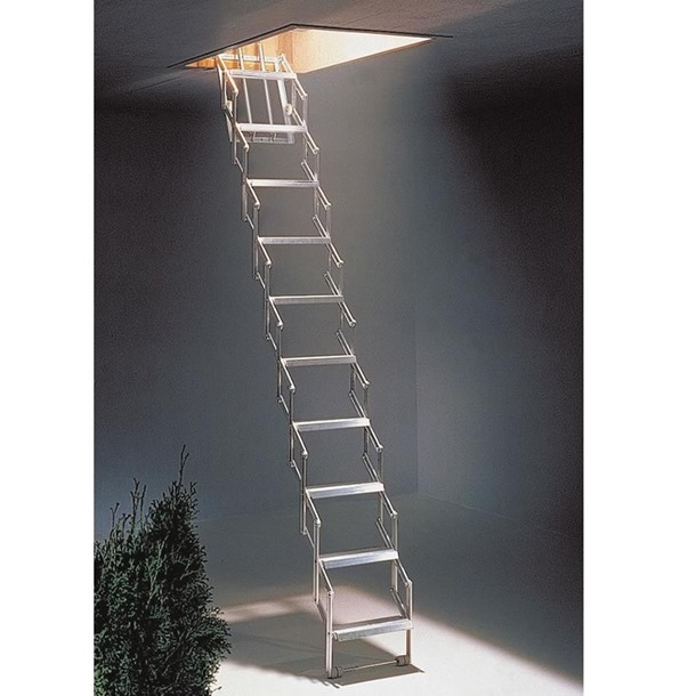 Dolle Allufix Concertina Wide Tread Loft Ladder