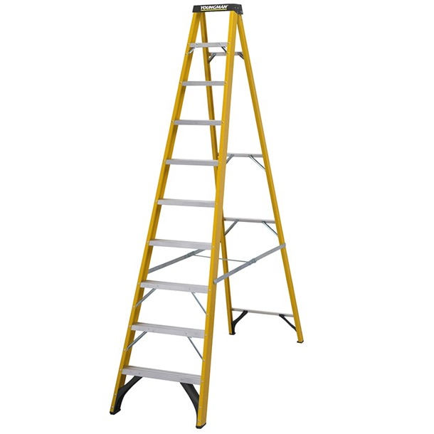 Youngman S400 Fibreglass Trade Step Ladder
