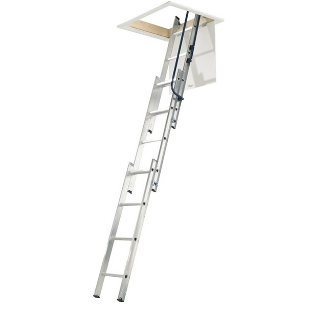 3 Section Hideaway Aluminium Loft Ladder