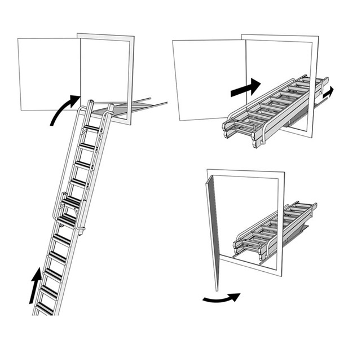 Deluxe Aluminium Sliding Vertical Loft Ladder (VCL)