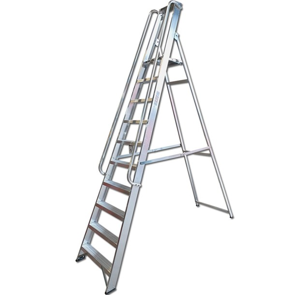 Professional Platform Step Ladders with Handrails