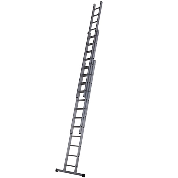 Werner Square Rung Triple Extension Ladder