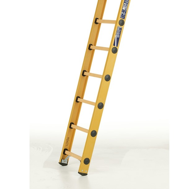 Glass Fibre Single Ladders GRP Rungs