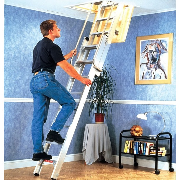 Youngman Deluxe 2 Section Aluminium Sliding Loft Ladder