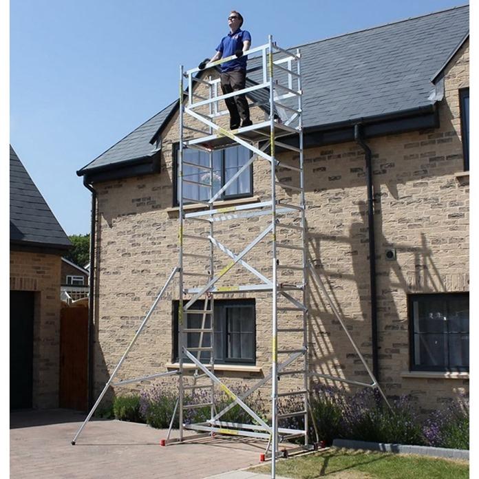 Super DIY Heavy Duty Scaffold Tower with Stabiliser Bars