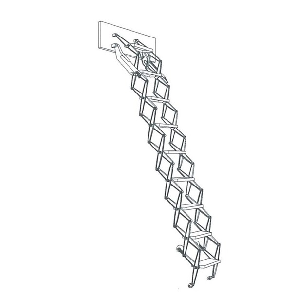 Columbus Junior Aluminium Concertina Loft Ladder